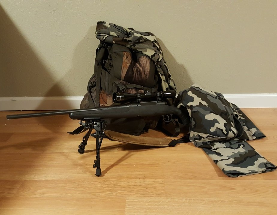 Hunting Rifle with Gear